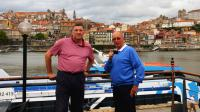 Frank & Peter, the River Douro and the city of Porto.