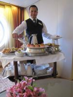 Afternoon Tea and our Butler, Lorenzo