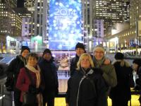 Our Group 1 (excluding me, the photographer!) at the Rockefeller Center.