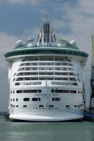 The new Freedom of the Seas (154,407grt - 3,782pax) on her maiden arrival in Southampton in April 2006.